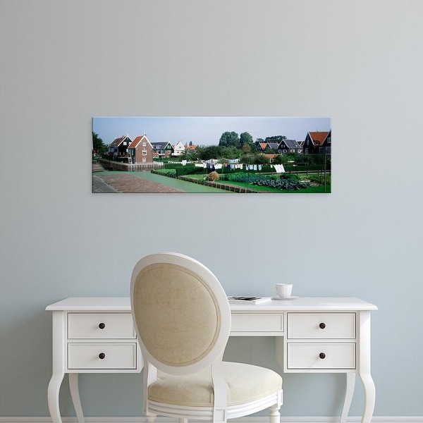 Easy Art Prints Panoramic Images's 'Laundry hanging in the small town of Marken The Netherlands' Premium Canvas Art