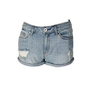American Rag Juniors Melrose Wash Blue Ripped Cuffed Denim Shorts 13