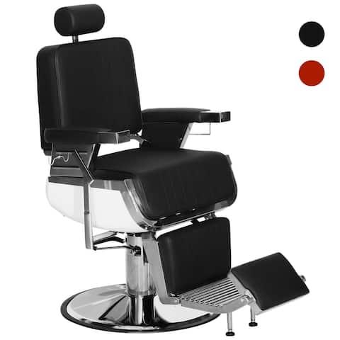 BarberPub Vintage Barber Chair Hydraulic Recline Beauty Equipment 3823