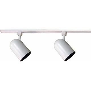 """Volume Lighting V2733 Track Light 2-Light 24"""" Track Kit with Round Back Track Heads - White"""