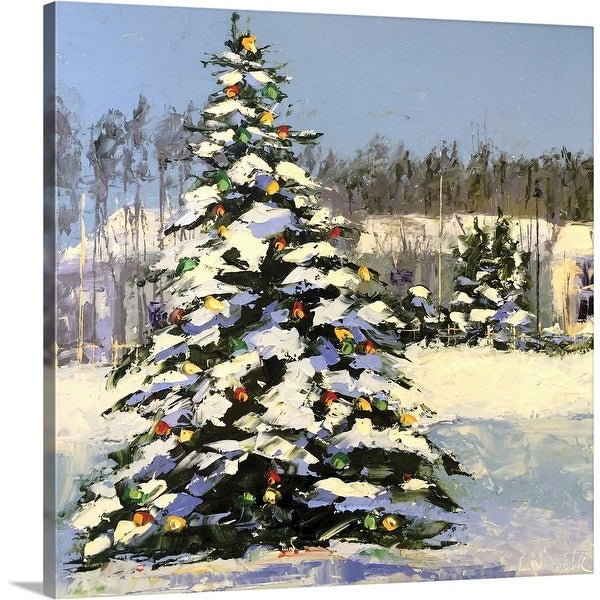 """""""Christmas in the Forest"""" Canvas Wall Art"""