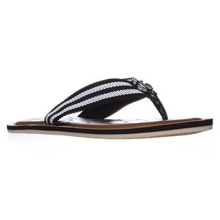 b656a6d79c5 Shop Nautica Gulfbreeze Flip Flops - Black White - Free Shipping On Orders  Over  45 - Overstock.com - 14011173