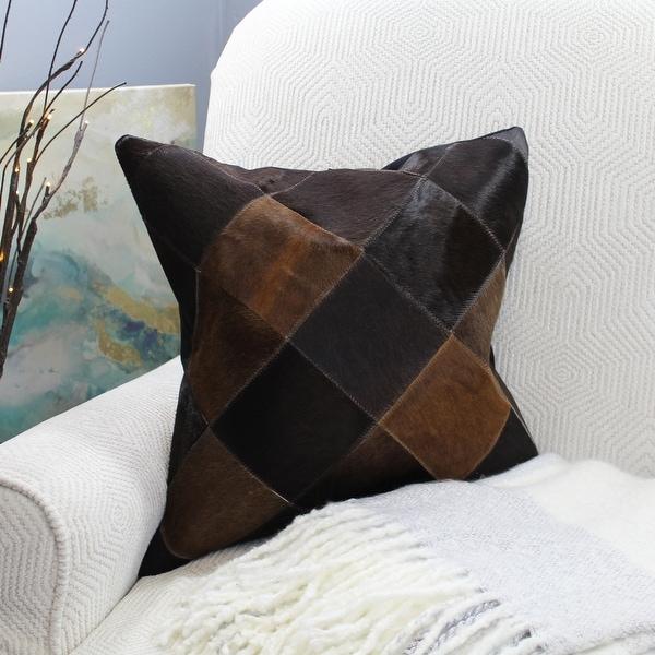 Natural Geo Black/Brown Geometric Diamond Throw Pillow. Opens flyout.