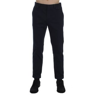 Dolce & Gabbana Dolce & Gabbana Blue Cotton Black Torero Slim Pants