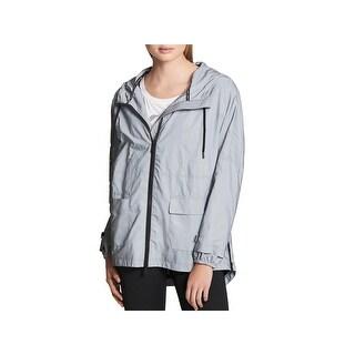 DKNY Sport Womens Raincoat Reflective Fitness