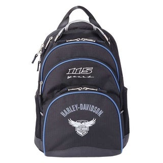 """Harley-Davidson 115th Anniversary Collection """"Steel-Cable"""" Backpack, Black 99220"""