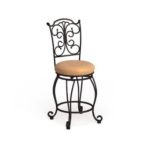 Copper Grove Amaranthus Metal Counter Stool Light Brown Polyester
