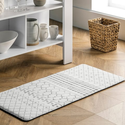 nuLOOM Moroccan Anti Fatigue Kitchen or Laundry Room Comfort Mat