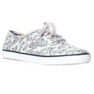Keds Champion Leopard Fashion Sneakers - Silver