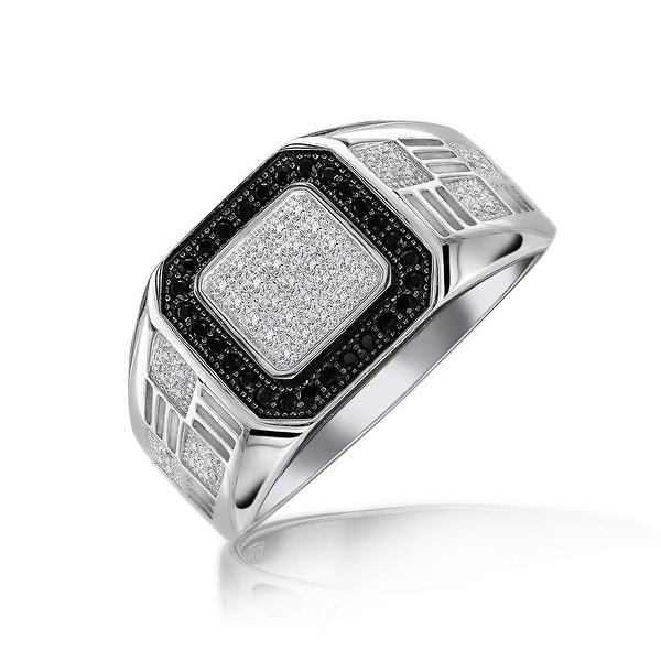 Other Fine Rings Womens Solid 925 Sterling Silver Cz Micro Pave Band Fashion Ring 14mm White