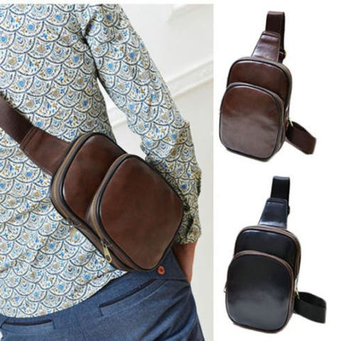 Men'S Accessories Leather Chest Cycle Sling Pack Satchel Shoulder Bag Small Day Packs Purse