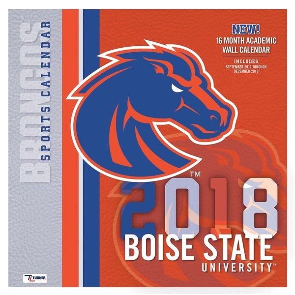 2018 Boise State Broncos Wall Calendar   Free Shipping On Orders