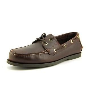 Dockers Vargas Men Moc Toe Leather Brown Boat Shoe
