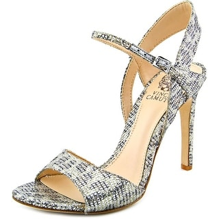 Vince Camuto Klava 2 Women Open Toe Canvas Silver Sandals