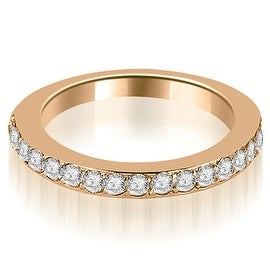 0.60 cttw. 14K Rose Gold Round Cut Diamond Wedding Band