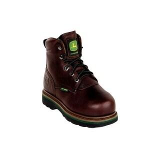 John Deere Work Boots Mens Steel Toe MET Lacer Dark Brown JD6373