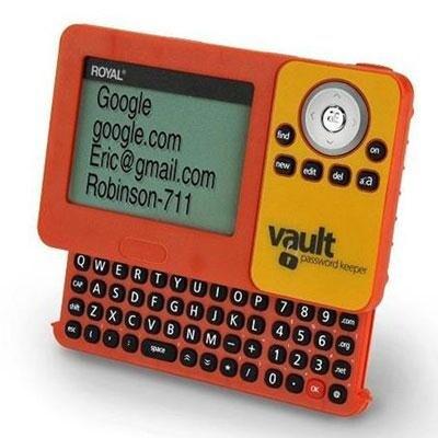 Royal Consumer 39226U Pv1 Digital Password Vault With Qwerty Keyboard, Orange