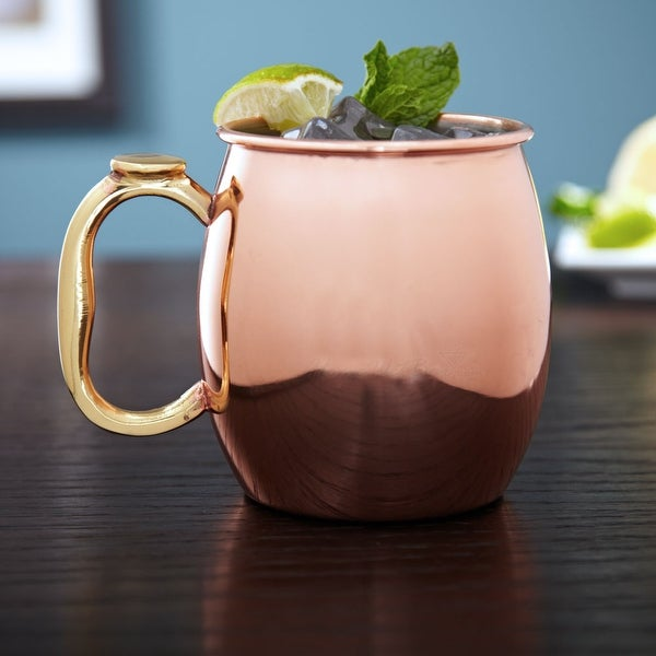 Copper-Plated 20 Ounce Moscow Mule Drinking Mug Set of 2