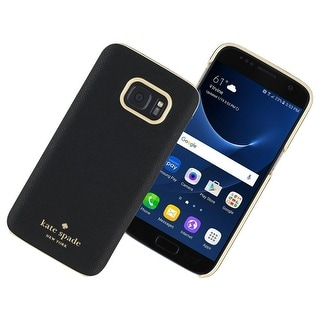 Kate Spade New York Wrap Case for Samsung Galaxy S7 (Saffiano Black)