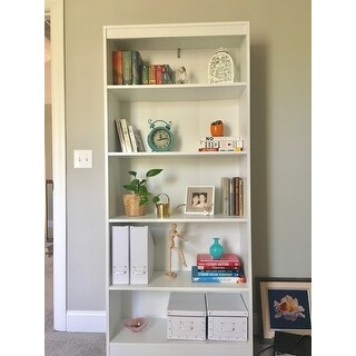 South Shore Pure White Axess 5 Shelf Bookcase