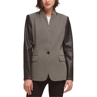 Link to DKNY Womens Faux Leather Blazer Jacket, black, Medium Similar Items in Women's Outerwear