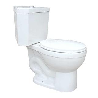 Bathroom Corner White Round Space Saving Dual Flush Toilet Grade A Porcelain