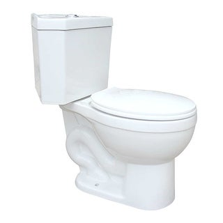 White Porcelain Round Space Saving Dual Flush Corner Toilet Renovator's Supply