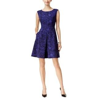 Anne Klein Womens Wear to Work Dress Floral Print Fit & Flare
