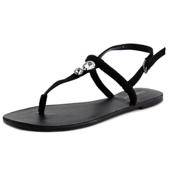 Nine West Skooter Open Toe Canvas Thong Sandal
