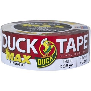 "Duck 240866 MAX Strength Duct Tape, 1.88"" x 35 Yards, White"