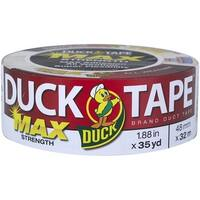 """Duck 240866 MAX Strength Duct Tape, 1.88"""" x 35 Yards, White"""