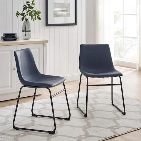 Carbon Loft Prusiner Faux Leather Dining Chair (Set of 2)