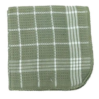 7390 13 x 13 in. Green 100 Percentage Cotton Dish Cloths - 4 Pack, Pack Of 3