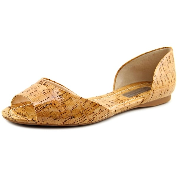 INC International Concepts Elsah Women  Peep-Toe Synthetic Brown Flats
