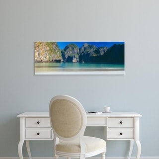 Easy Art Prints Panoramic Images's 'Rock formations in the sea, Phi Phi Islands, Phuket Province, Thailand' Canvas Art