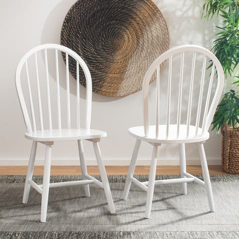 """SAFAVIEH Camden Spindle Oval Back Dining Chairs (Set of 2) - 17.9"""" x 19.7"""" x 37"""""""