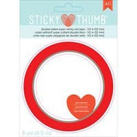 """Sticky Thumb Double-Sided Super Sticky Red Tape-.5""""X5yd"""