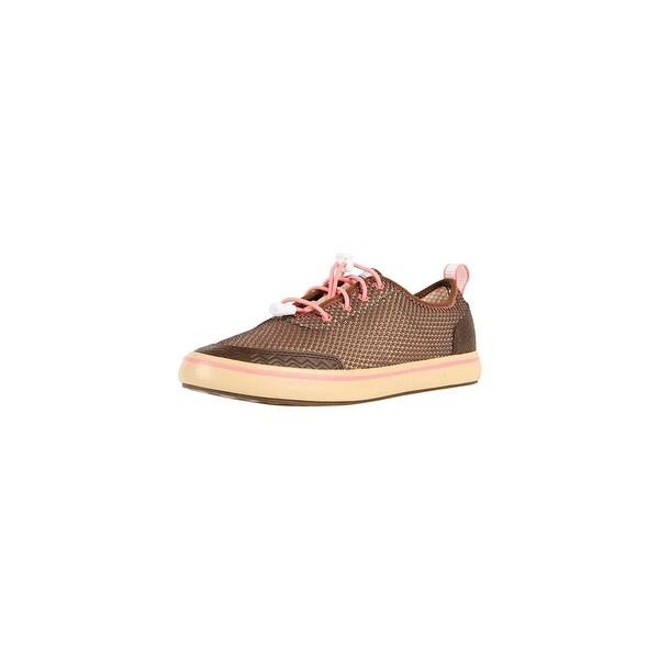 Xtratuf Women's Riptide Deck Brown Shoes w/ Iconic Chevron Outsole Pattern - Size 6.5
