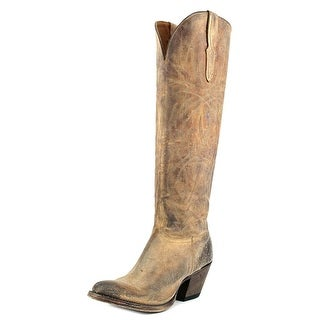 Lucchese Courtney Round Toe Leather Western Boot