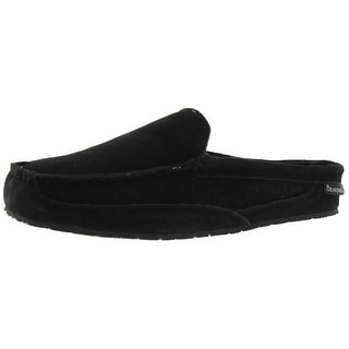 Bearpaw Mens Gale Mule Slippers Suede Wool