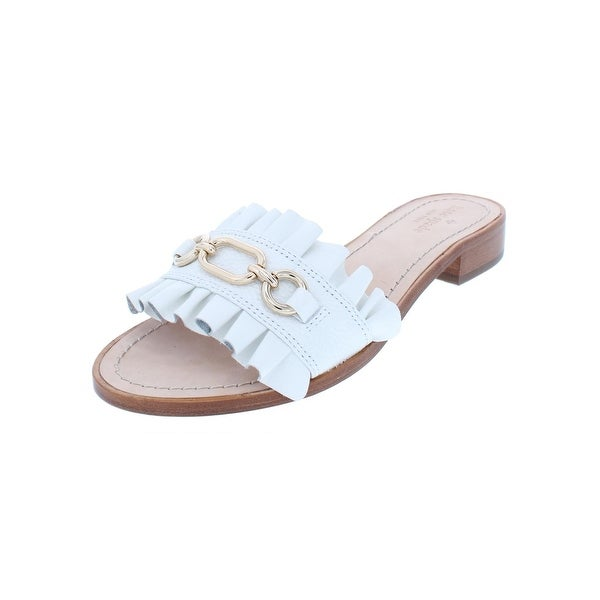 83f1c1924ab1 Shop Kate Spade Womens Beau Slide Sandals Leather Ruffled - Free ...
