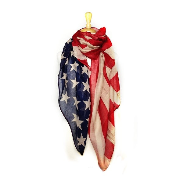 Women's American Flag Convertible Pareo Scarf