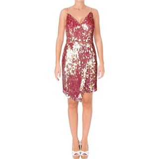 Aidan by Aidan Mattox Womens Slip Dress Sequined Sleeveless - 12