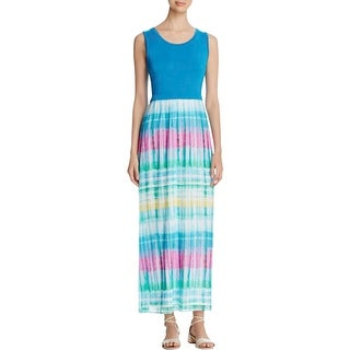 Calvin Klein Womens Maxi Dress Chiffon Bottom Sleeveless