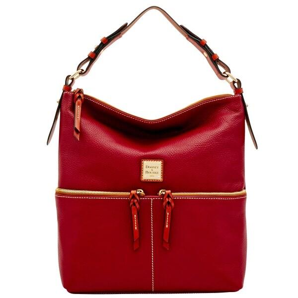 ef17744957 Dooney  amp  Bourke Pebble Grain Zipper Pocket Sac Shoulder Bag (Introduced  by Dooney  amp