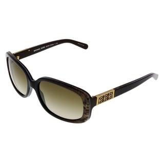 Michael Kors M6011 DELRAY 301913 Brown Snake Rectangular Sunglasses