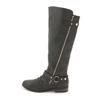 Rampage Womens Iverlee Almond Toe Knee High Riding Boots
