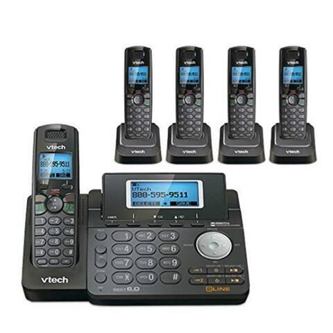 VTech DS6151-11 Phone with DS6101-11-4 Handsets/Charger & Backlit Keypad