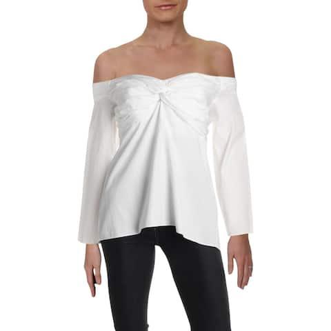 A.L.C. Womens Blouse Internal Liner Criss-Cross Front - 10