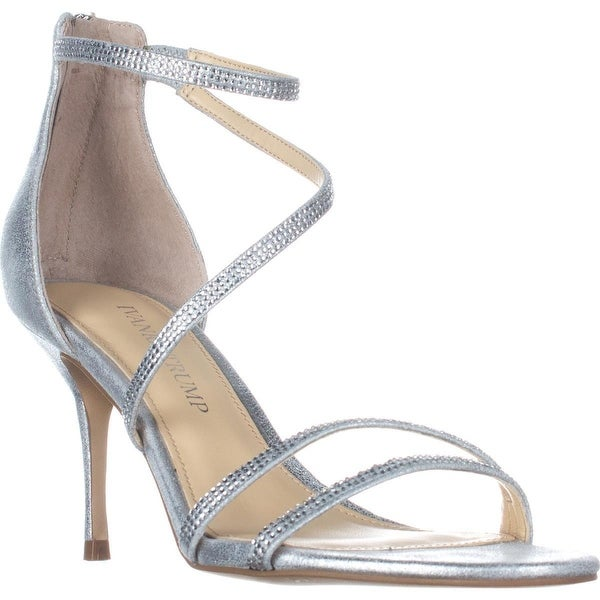 Ivanka Trump Genese Strappy Evening Sandals, Silver